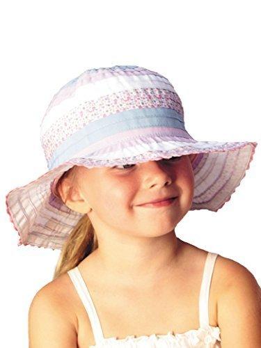 UVカット帽子 - キッズ ハット(フローラルピンク52cm) 紫外線カット率最高値UPF50+,UVカット,帽子,
