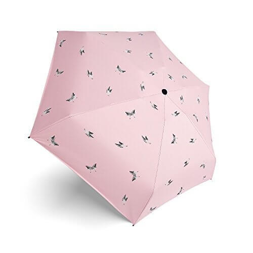 【最新版】TWONE 蝶々折りたたみ日傘 晴雨兼用 UVカット99.99% 高密度NC布 UVカット 梅雨対策 遮熱 耐風 撥水 軽くてコンパクト 携帯用 レディーズ 日傘 収納ポーチ付き,UVカット,日傘,