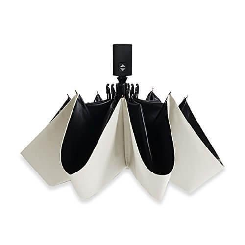 サイベナ Saiveina 自動開閉 コンパクト 撥水 携帯しやすい  レディース メンズ 男女兼用 晴雨兼用 折り畳み 日傘 (ホワイト),UVカット,日傘,