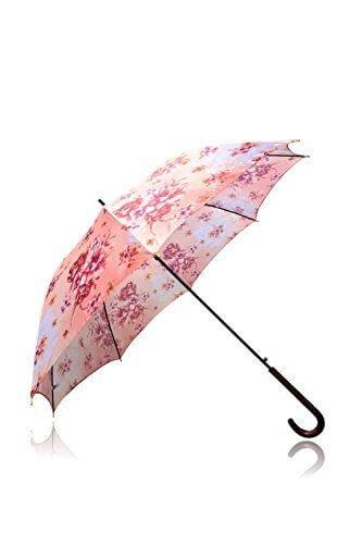 La bellezza レディース 傘 おしゃれ 花柄 軽量 長傘 紫外線 UVカット (ピンク),UVカット,日傘,
