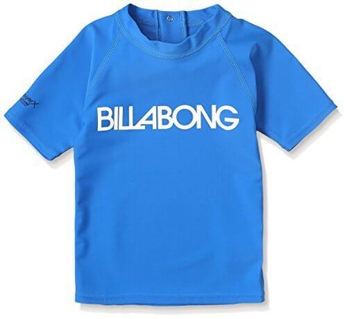 (ビラボン)BILLABONG キッズ ハイネック 半袖 ラッシュガード Tシャツ UVカット(UPF50+) 【 RASH GUARD 】 AG015-850 BLU BLU / ブルー 130,ベビー,ラッシュガード,