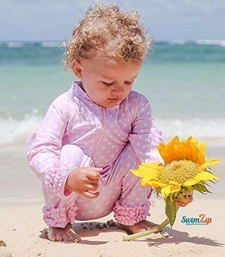 SwimZip (スイムジップ) Sassy Surfer ロンパー水着 (18-24ヶ月),ベビー,ラッシュガード,