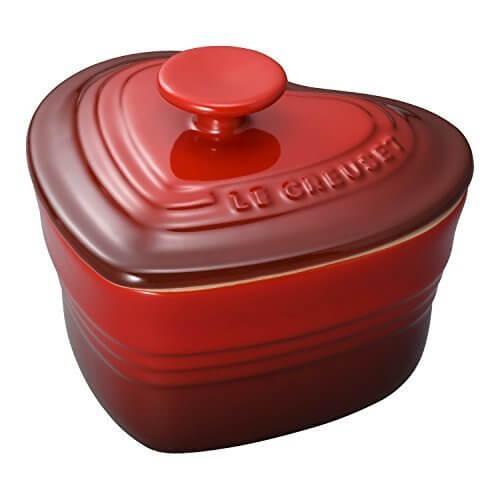ルクルーゼ ラムカン ダムール フタ付き 耐熱 容器 チェリーレッド 910031-00-06,離乳食,炊飯器,おかゆ