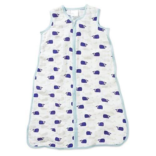 Aden + Anais (エイデンアンドアネイ) 【日本正規品】 クラシック スリーピング バッグ (スリーパー) high seas - whales sleeping bag (M) 8119,スリーパー,夏,