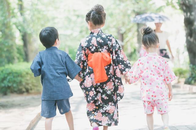 和服を着た子ども,子供用,甚平,