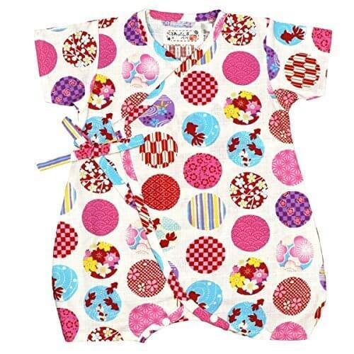 アスナロ(甚平) 甚平 カバーオール ベビー 女の子 子供用 日本製生地 和柄 鞠 綿100%60-70 ホワイト,子供用,甚平,