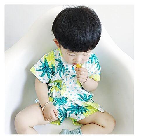 city wu 春夏 浴衣 甚平 子供服 男女兼用 男の子 綿100% 七五三 5デザイン くだもの 80 90 100 110 120cm,子供用,甚平,