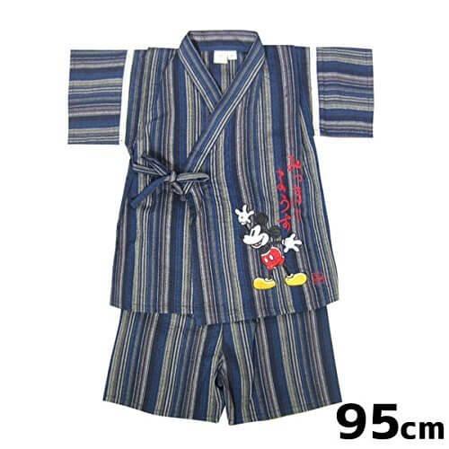 ミッキー 甚平スーツ (ベビー服) ネイビー 95cm (ミッキーマウス) ディズニー ベビー用品,子供用,甚平,