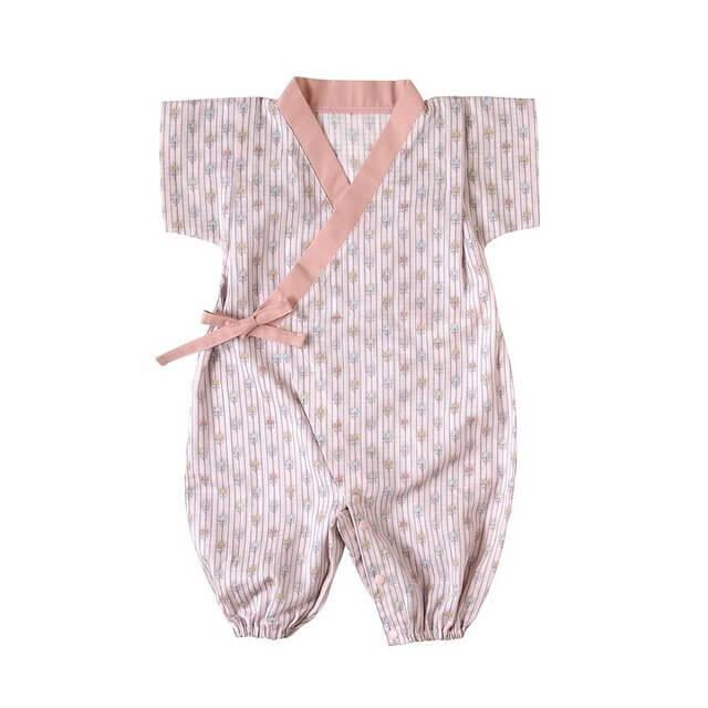 SOULEIADO じんべい2wayドレス ピンク 50~70cm 18122015,子供用,甚平,