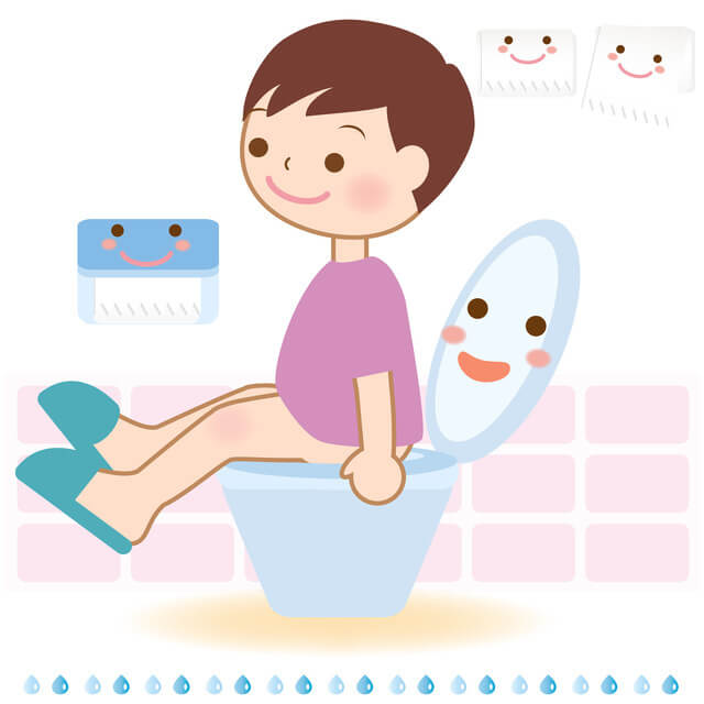 トイレトレーニングイラスト,おまる,トイレトレーニング,