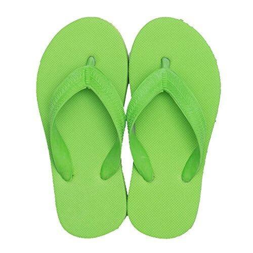 天然ゴムのシンプルビーチサンダル 子供 キッズサイズ 【無地 単色】6.5(16-17cm)グリーン,キッズサンダル,男の子,