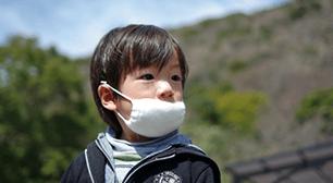 マスクをしている男の子,鼻水,方法,