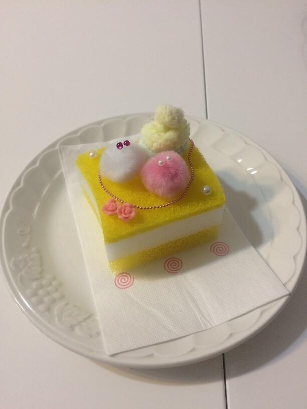 台所スポンジケーキの作成例,100均,手作りおもちゃ,