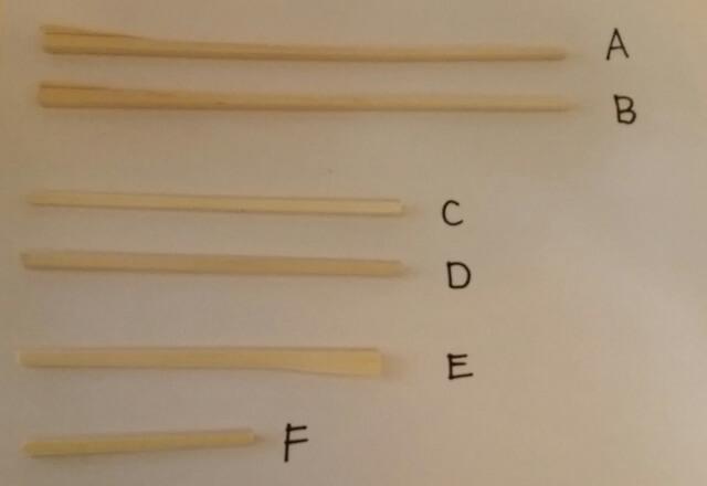 それぞれの割りばしの切り方,工作,材料,簡単
