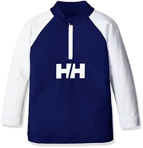 (ヘリーハンセン)HELLY HANSEN キッズ ロングスリーブ ハーフジップラッシュガード HJ81703 BB ブルーベリー 100,ラッシュガード,キッズ,