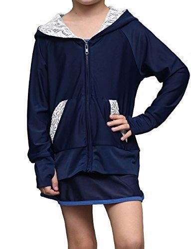 (アプラージュ)UPLAGE ラッシュガード キッズ 水着 レース 長袖 UPF50+ 子供用 女の子用 RS0029 ネイビー 90,ラッシュガード,キッズ,