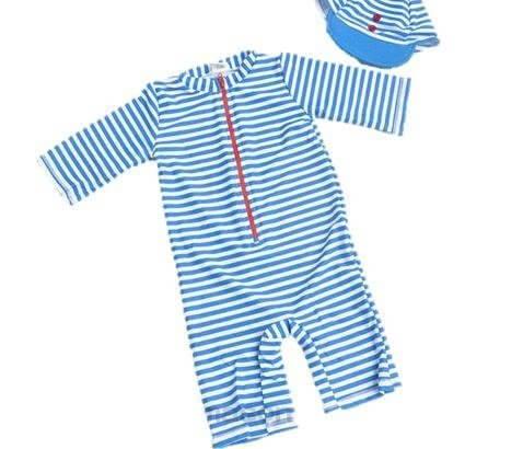 水着 ラッシュガード 子供 ベビー 男の子 帽子付 2点セット (100cm(3T)),ラッシュガード,キッズ,