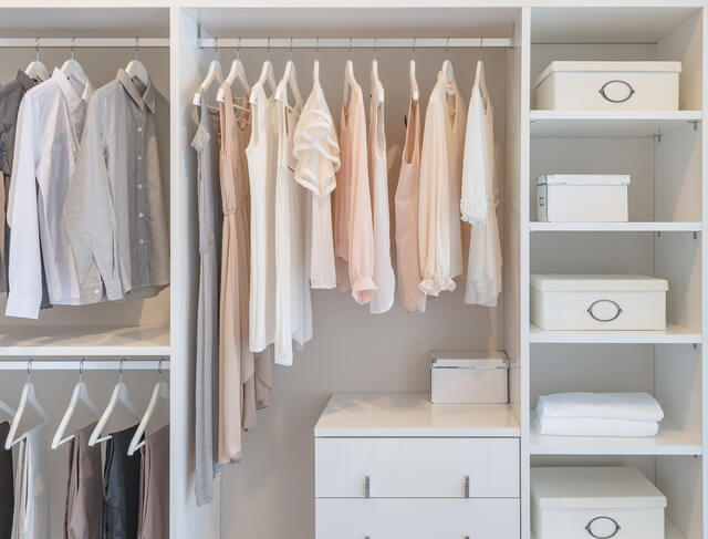 クローゼットとボックス,ベビー服,収納,100均