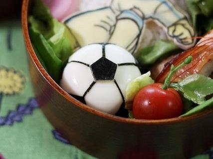 ゆで卵サッカーボール,キャラ弁,サッカーボール,