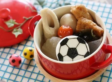 はんぺんのサッカーボール,キャラ弁,サッカーボール,