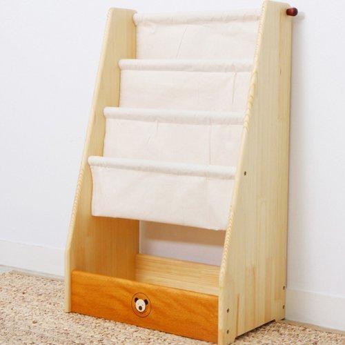 スプソリ 無着色の子ども家具 木製ブックシェルフ 絵本整理用,絵本,収納,