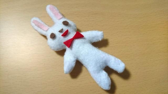 ウサギのぬいぐるみ 手作り,赤ちゃんおもちゃ,手作り,フェルト
