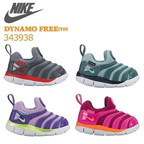 NIKE ナイキ DYNAMO FREE TD ダイナモ フリー 343938 (010:グレー/レッド, 15cm),子供用,スリッポン,