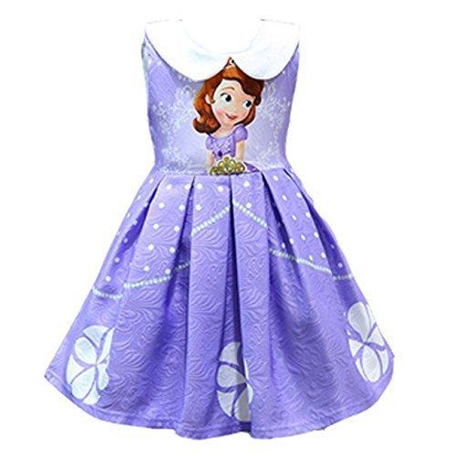 Forpend SN10 ソフィア ドレス 子供 プリンセスなりきり お姫様ドレス 女の子 ワンピース 短袖,ちいさなプリンセスソフィア ,おもちゃ,