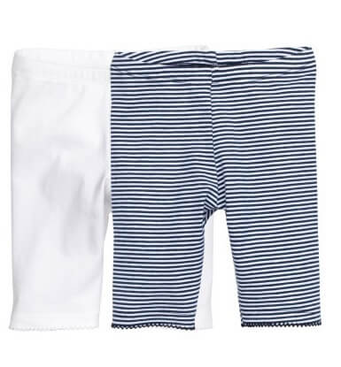 七分丈レギンス 2本セット,ベビー服,プチプラ,H&M
