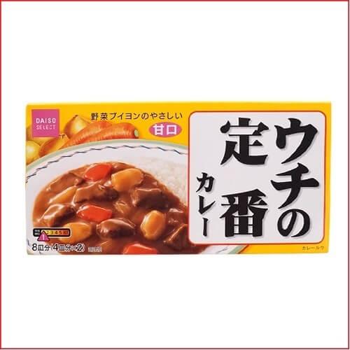ウチの定番カレー固形ルウ甘口140g,ダイソー,食品,