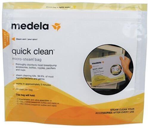 メデラ(medela) 電子レンジ除菌バッグ(5パック) クイッククリーン スチームバッグ,おしゃぶり,消毒,