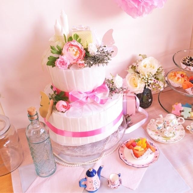 おむつケーキ,ベビーシャワー,