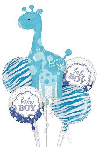 Lumierechat ベビーシャワー バルーン 風船 アルミバルーン ベビー 出産 誕生日 飾り 装飾 デコ パーティー 出産祝い 空気入れ セット a-7756 (ベビーシャワー, ブルー),ベビーシャワー,