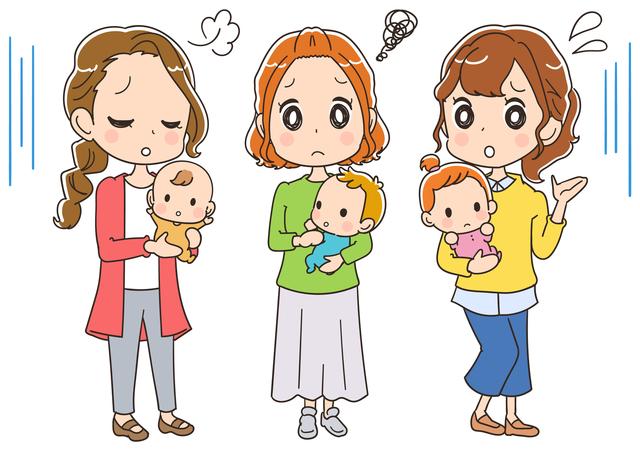悩んでいるママ,離乳食,チェア,