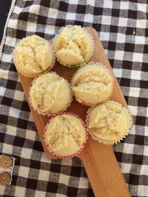 フライパンで簡単きな粉蒸しパン【離乳食】 ,フライパンパン ,レシピ ,簡単