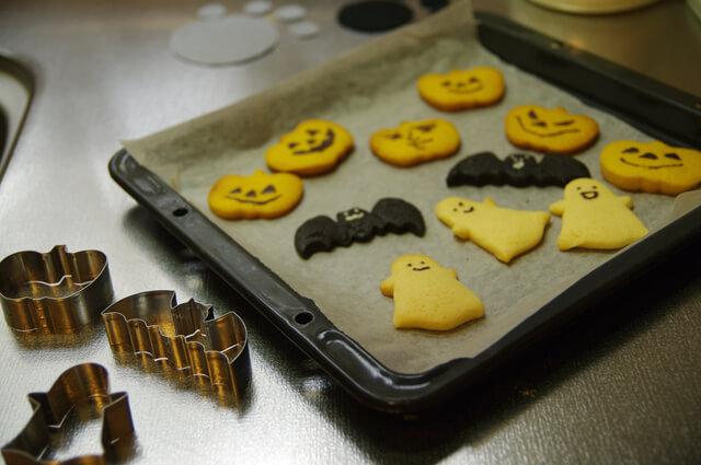 型抜きクッキー,ハロウィン,クッキー,