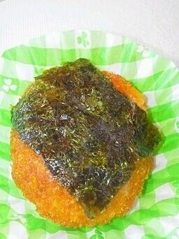 冷食ミニメンチカツを簡単アレンジ♪海苔メンチ,お弁当,冷凍食品,