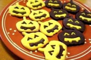 ハロウィン・かぼちゃクッキー♪ジャックオーランタン,ハロウィン,お菓子,レシピ
