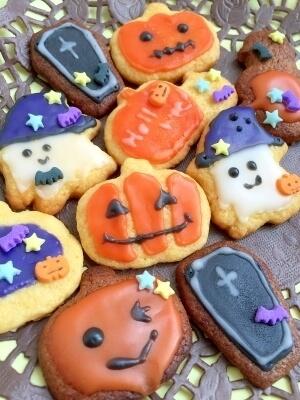 【ハロウィン2016】子供と一緒に簡単デコクッキー,ハロウィン,お菓子,レシピ