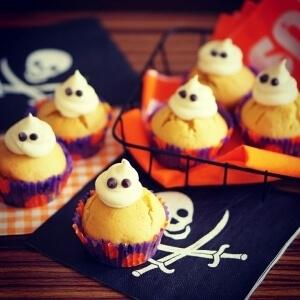 【ハロウィン2016】おばけのかぼちゃマフィン,ハロウィン,お菓子,レシピ