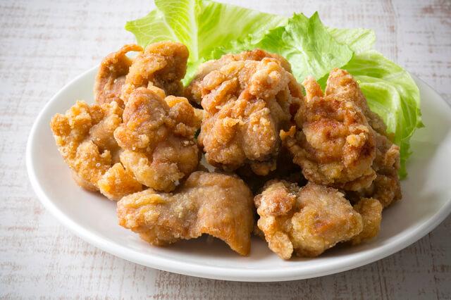 鶏のから揚げ,お弁当,彩り,