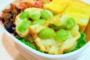 カリカリチーズ枝豆,お弁当,彩り,