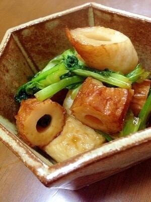 竹輪と小松菜の煮物,お弁当,ちくわ,