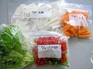 超簡単!野菜の冷凍保存 (大根,人参,葉物など) レシピ,お弁当,野菜炒め,