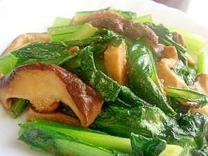 簡単で美味しい♡小松菜と椎茸の味噌バター,お弁当,野菜炒め,