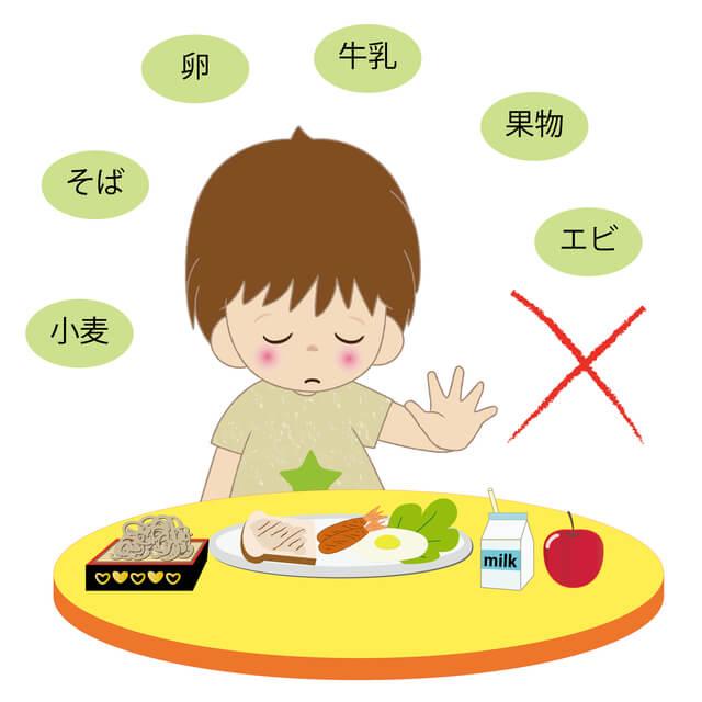 食物アレルギーイメージ,子供,おやつ,