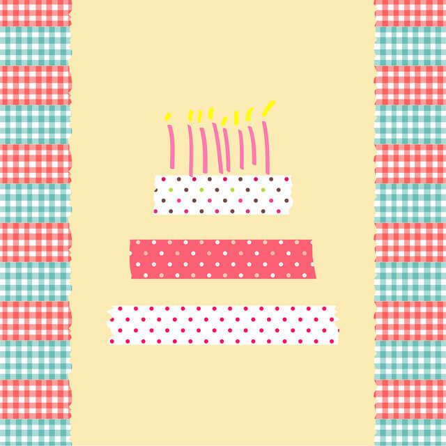 マスキングテープ,飾りつけ,ケーキ・プレゼント,誕生日お祝い