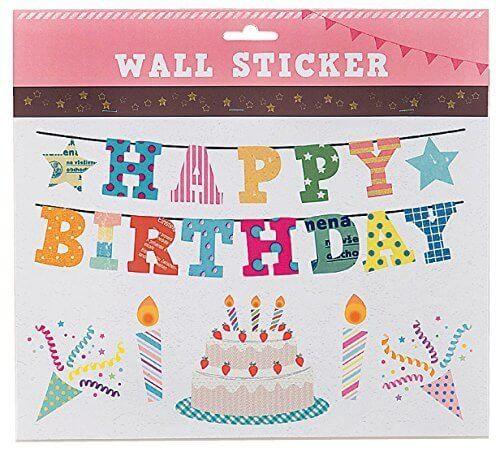 誕生日 ウォールステッカー,飾りつけ,ケーキ・プレゼント,誕生日お祝い