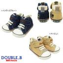 DOUBLE.B ダブルBストライプがちらり♪ セカンドシューズミキハウス 靴(61-9305-970),子供,靴,おすすめ