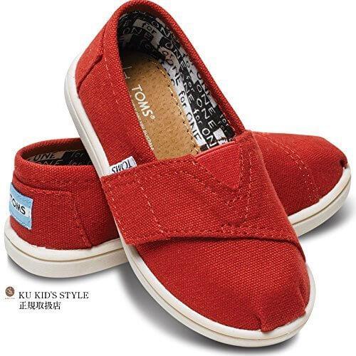 トムス タイニー キャンバス クラシックス TOMS Tiny Classics ベビー トムス キッズ トムスtoms キッズ トムズ キッズ toms キッズ toms shoes トムズシューズ 12cm_[T5] 03.レッド,子供,靴,おすすめ
